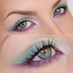 Soft and sweet 80s-inspired look by Stjima using all Sugarpill eyeshadows and ELF cosmetics Plum Passion eyeliner. So dreamy! http://instagram.com/p/ec0CVkRRAk/