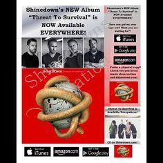 #ThreatToSurvival @Shinedown   Barry Kerch Brent Smith Eric Bass Shinedown Shinedown Nation Shinedowns Nation Zach Myers