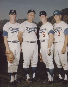Old picture of the Los Angeles Dodgers... Tommy Lasorda Steve Garvey..