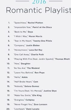 Song list romance learning go musicsongs song list romance list romance song trendy wedding songs playlist father daughter ideas Wedding Love Songs, Romantic Songs, Wedding Music, Boho Wedding, Dream Wedding, Wedding Song List, Wedding Quotes, Backless Wedding, Tulle Wedding