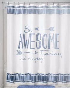 Be-Awesome-Fabric-Shower-Curtain