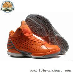 Derrick Rose Shoes Adidas AdiZero 3.0 Orange Grey Electricity