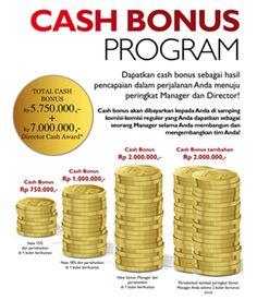 Oriflame selalu memanjakan para membernya yang mau bekerja keras dan berproses dalam setiap tahapannya.. Salah satunya yaitu Cash Bonus Program