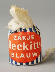 Reckitts Blue in Dutch version in the later stage of the washing it gave that Xtra whiter effect to it all, in my Collection Those Were The Days, The Good Old Days, Vintage Labels, Retro Vintage, Holland, Typography Images, Good Old Times, Art Deco Posters, We Are Young