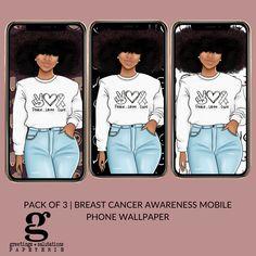*DIGITAL* Breast Cancer Awareness Phone Wallpaper - Light
