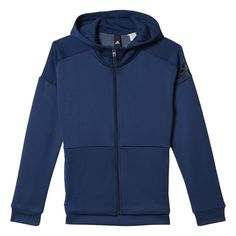 Shop our adidas Girls ID Hoodie in Blue from Excell Sports UK. Kits For Kids, Adidas, Hoodies, Sweatshirts, Fashion Forward, Girls, Hooded Jacket, Athletic, Sweaters