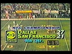 THE CATCH (1981 NFC Championship Cowboys 49ers)
