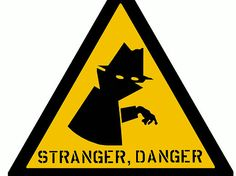 Love the danger sign vibe, use of negative space