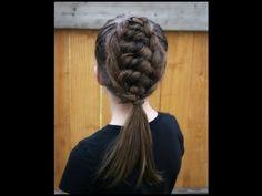 Hair Style Vedios : tie arabian hair color styles forward box braid tie back hairstyle by ...