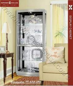 Cherry Sliding Door Contemporary Flat Top Curio Cabinet | 680521 Howard  Miller | Howard Miller Curio Cabinets | Pinterest | Howard Miller, Glass  Shelves And ...