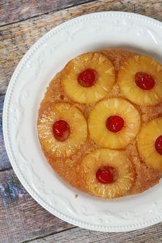 Pineapple Upside Down Cake Recipe - RecipeGirl.com