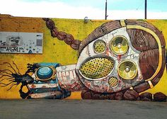 Street Art NYC in L.A. with: Beau Stanton, Pixel Pancho, Fin DAC & Christina Angelina, Lady Aiko, Hueman and Roa. -- Pixel Pancho