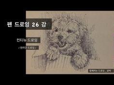 함께하는 드로잉 _ Together drawing _ 펜드로잉 26강 _ 컨티뉴드로잉 _ 반려견드로잉 - YouTube