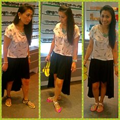 Top-Forever 21,Skirt-Max,Sandal-Vincci,Watch-Lacoste,Accessories-Forever 21