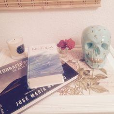 Skull made and painted by hand. Custom orders.  Calaveras hechas y pintadas a mano. Pedidos personalizados.  #skull #plasterskull #homedecor #tattoo #original #summer #inspiration #tropical #handmade #neruda #photo #rose