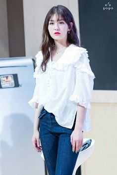 Pin Image by Stuff Fashion Kpop Girl Groups, Kpop Girls, Jeon Somi, Cosmic Girls, Kpop Outfits, Beautiful Soul, Korean Fashion, My Girl, Bell Sleeve Top