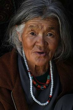 Beautiful woman of Ladakh, India