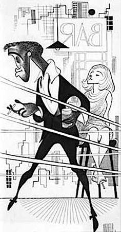 'art directors club hall of fame - sammy davis jr In broadway's goldenboy' by al hirschfeld