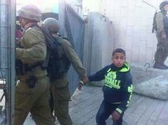 "Another child arrested and imprisoned. His crime, throwing stones at ""armoured"" Israeli military vehicles."