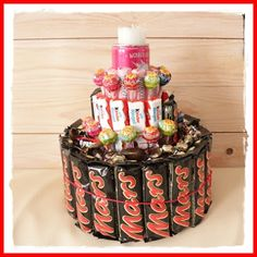 Mars Torte zum Geburtstag - Candy cake as birthday present - DIY