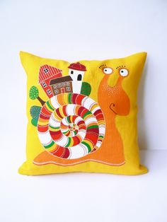 Подушка декоративная Улитка  handmade