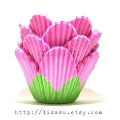 Cupcake Liner - Pink Petal