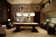 Billiards Room pictures in the back. I like the patern