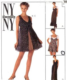 Summer Romper pattern slip dress and overdress 90s by HeyChica