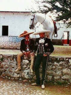 Don Antonio y Pepe Aguilar. Mexican Costume, Mexican Outfit, Pancho Villa, Spanish Music, Western Comics, Conquistador, Mexicans, Mexican Art, Tulum