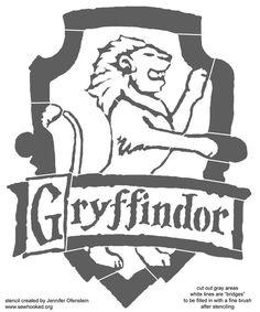 gryffindor stencil - Google Search