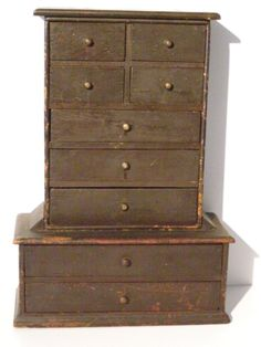 """Late 19th Century Spice Drawers in Original Surface 19"""" x 13 1/2"""" x 6"""" $ 525.00"""