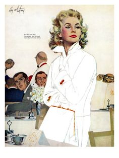"""Most Romantic Saturday Evening Post Print - """"For the first time, he saw the way men turned and looked at her."""""""