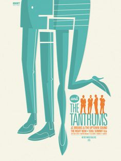 """""""Fitz and the Tantrums"""" gigposter by Spike Press."""