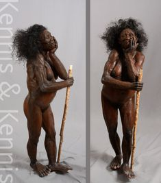 Moesgaard Museum, reconstructions of our ancestors made by Adrie and Alfons Kennis