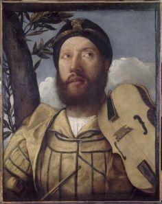 Giovanni Cariani, Portrait de violiste, ca. 1520-30. Musée Magnin, Dijon