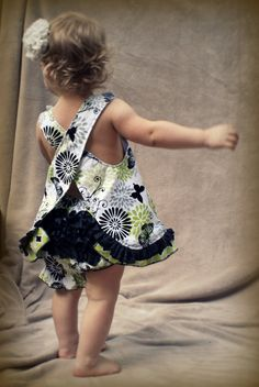 Butterfly pinafore dress with ruffle bloomers by LucyBellSewing, $25.00