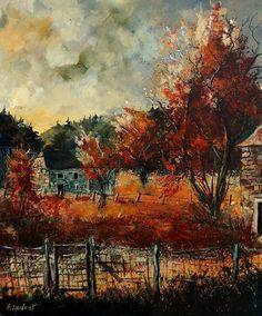 """Saatchi Online Artist: Pol Ledent. 2011 Oil Painting """"Fall in Vivy"""""""