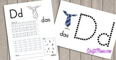 Free Printables and craft ideas for toddlers and Grade R. Alphabet worksheets in English and Afrikaans as well as Free Printable birthday invitation templates. Grade R Worksheets, Alphabet Worksheets, Preschool Worksheets, Printable Alphabet Letters, Alphabet For Kids, Teaching Activities, Preschool Learning, Preschool Ideas, Afrikaans Language