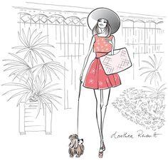illustrations de la parisienne à Paris - ©dorothea Renault Hand Painted Ceramics, Dog Coats, Ceramic Painting, Stop Motion, Dog Accessories, Op Art, Painting Inspiration, Art Dolls, Hand Knitting
