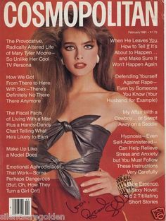 Brooke Shields Autographed 8x11 inch Cosmopolitan Magazine Cover