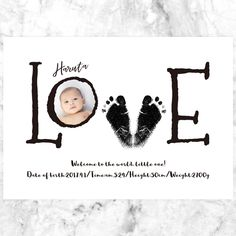 Birthday Gifts For Boyfriend Diy, Boyfriend Crafts, Baby Crafts, Toddler Crafts, Baby Footprint Art, Baby Posters, Foto Baby, Baby Sewing Projects, Baby Footprints