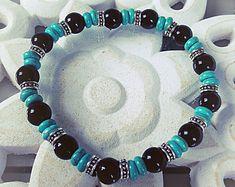 Bracelet H MEN argent, noir, vert, homme, cadeau, offrir, amour, love, elastique, turquoise, papa, fait avec amour