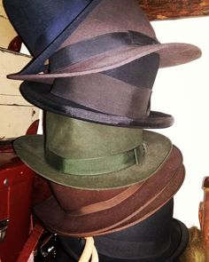 Every day hats, not my best but very good #vintage #menswear #fashion #vintagehat #30sfashion #dandygents #Dandy #fashion #hats #Homberg # #trilbies # #fedora #bowlerhat