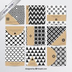 Geometric patterns in modern style Free Vector Geometric Patterns, Textures Patterns, Print Patterns, Geometric Shapes, Geometric Designs, Pattern Design, Free Pattern, Print Design, Design Design
