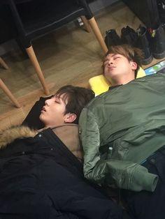Jungkook & Jin - Im a sucker for sleeping BTS