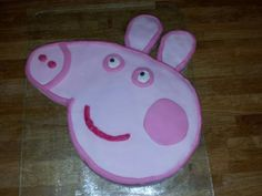 Peppa pig cake that I made for my daughter's 3rd Birthday