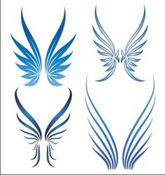 simple tribal angel wings clipart best graphic inspiration pinterest angel wings angel. Black Bedroom Furniture Sets. Home Design Ideas