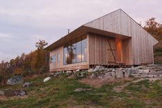 A cabin for use all year. Situated 1066 meters above sea level. No road connection, so materials for the build was flown in by helicopter. The groundworks we...
