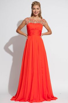 Cap sleeve Jovani floor length dress