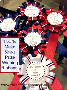 How to Make Simple Prize Ribbons www.theaspiringhome.com